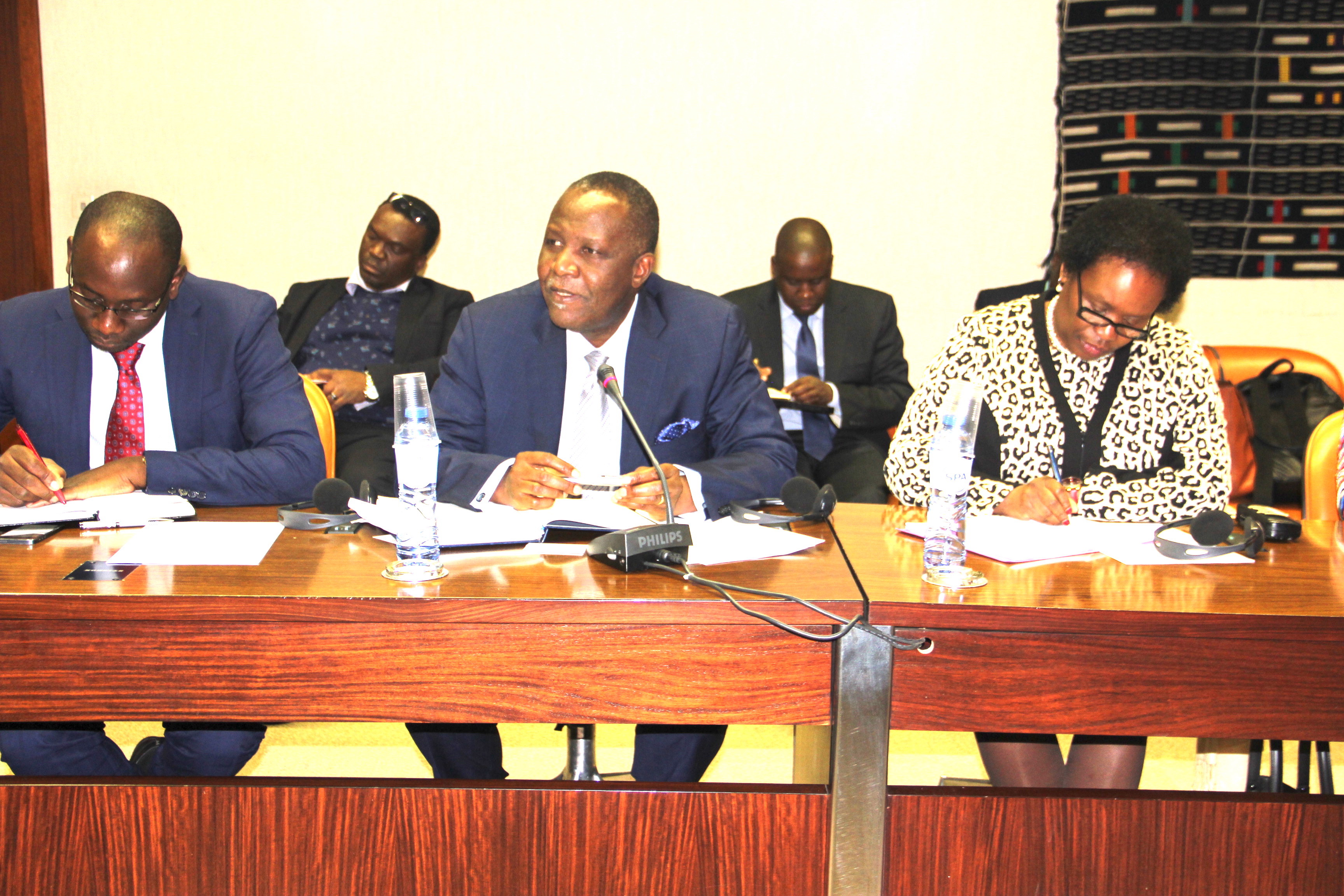 Zambian delegation led by Finance Minister Felix Mutati paying courtesy call on ACP Secretary General in Brussels
