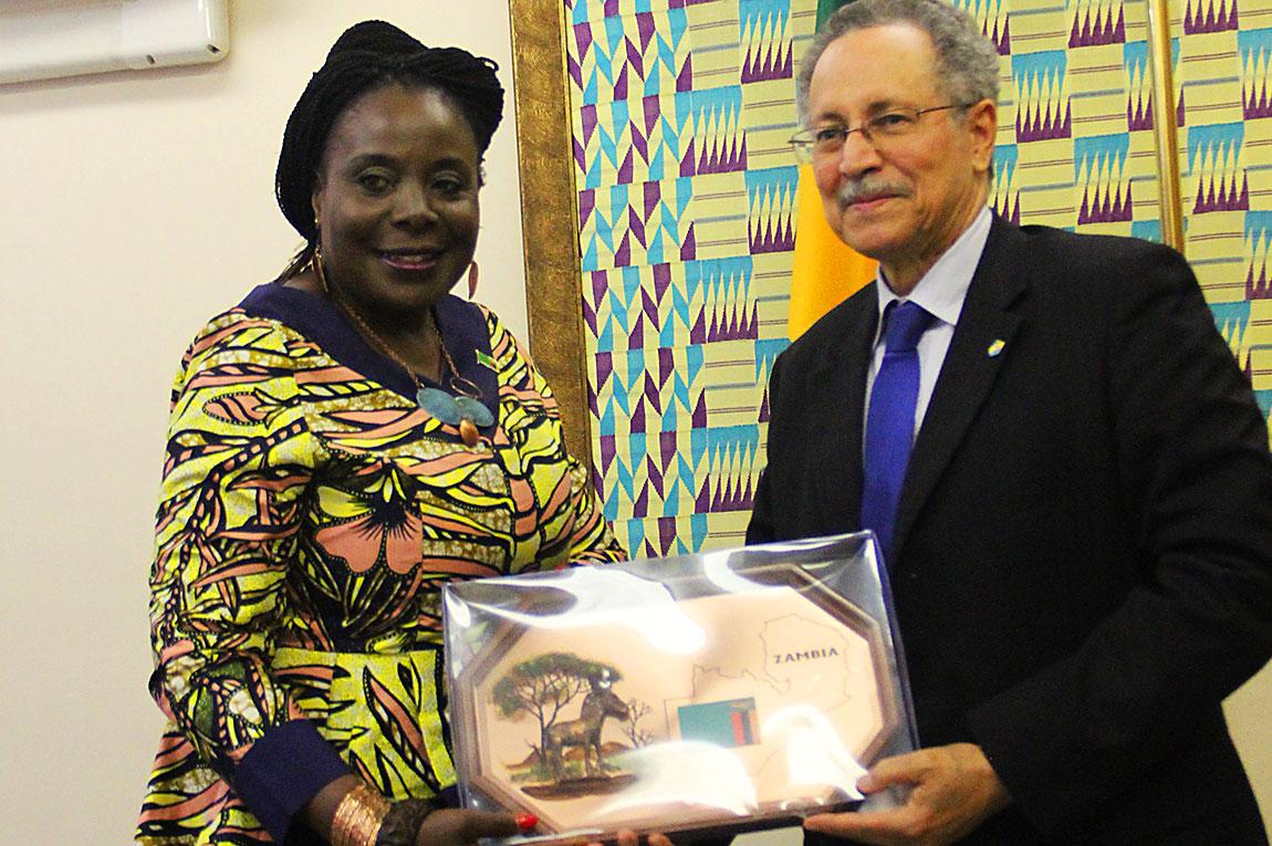 AMBASSADOR PROF. ESTHER MUNALULA NKANDU CALLS ON ACP SECRETARY GENERAL