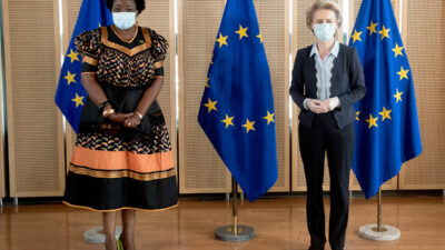 HER EXCELLENCY PROF. ESTHER MUNALULA NKANDU PRESENTS HER CREDENTIALS TO PRESIDENT OF THE EUROPEAN COMMISSION, MS. URSULA VON DER LEYEN