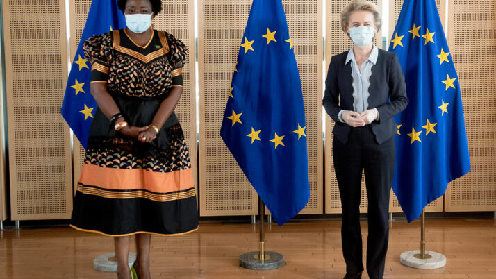 HER EXCELLENCY PROF. ESTHER MUNALULA NKANDU PRESENTS HER CREDENTIALS TO PRESIDENT OF THE EUROPEAN COMMISSION, MS. URSULA VON DER LEYEN