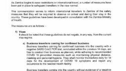 GUIDELINES AND MEASURES AT ZAMBIAN INTERNATIONAL AIRPORTS